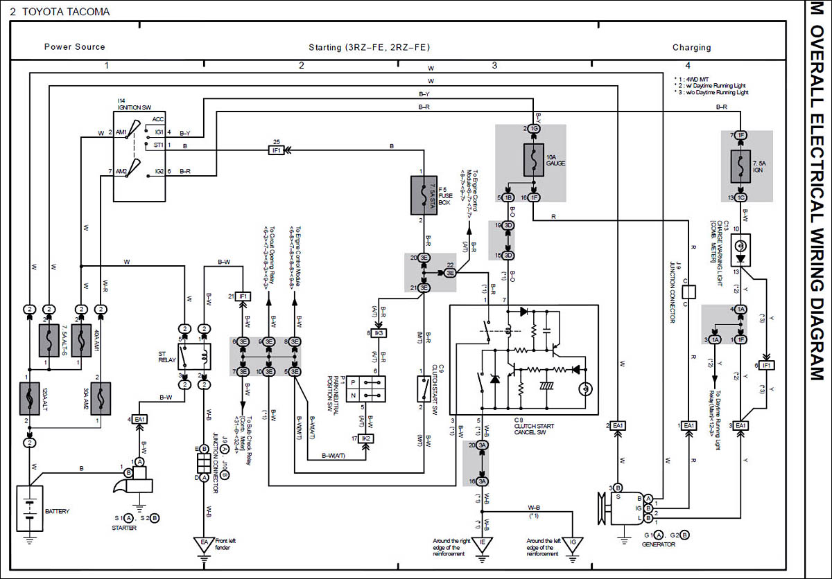 tacoma power wiring diagram power free printable wiring diagrams