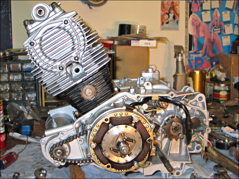 honda benly ca95 engine assembly timing fourwheelforum once that stuff is done the engine looks like this