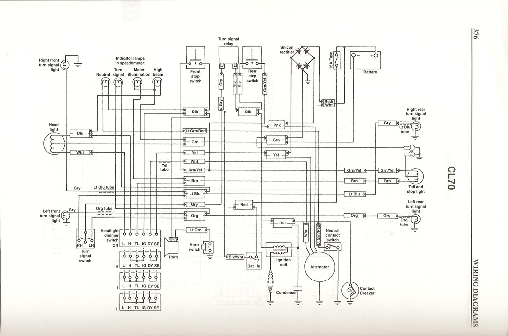 honda_cl70_wiringschematic time to update the cl70 electrical harness fourwheelforum 1966 Chevy Wiring Schematic at crackthecode.co