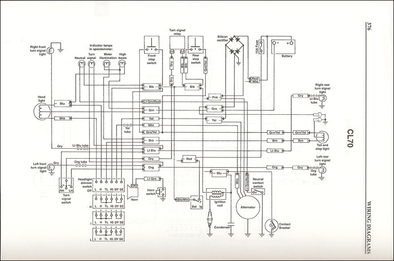 honda_cl70_wiringschematic_sm time to update the cl70 electrical harness fourwheelforum honda c70 wiring diagram at honlapkeszites.co