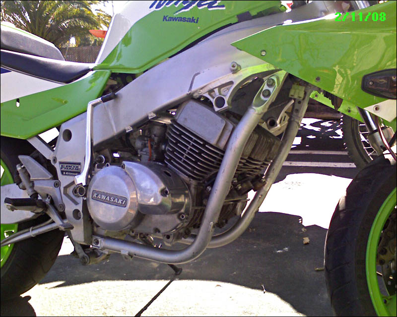 Kawasaki H2 750 Triple Engine in 1990 ZX-7 Chassis
